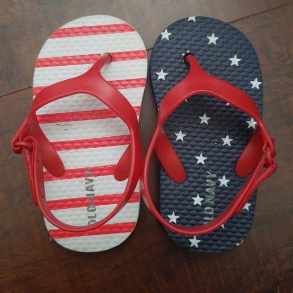 Old Navy Other - American Flag Flip Flops